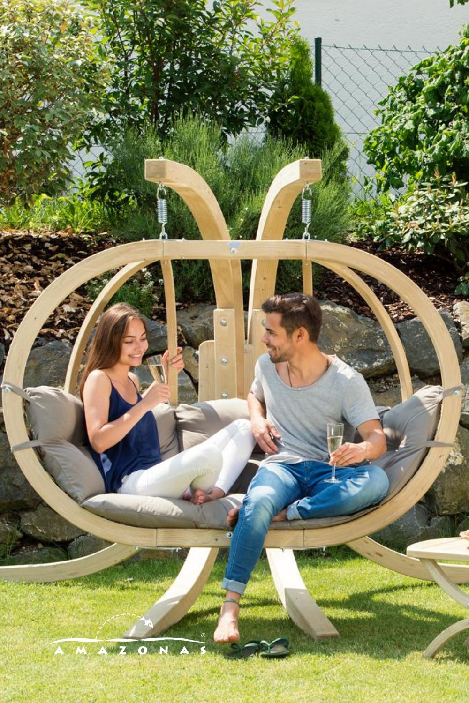 Loungesessel Fur Zwei Personen Hangestuhl Loungemobel Fur Den Garten Und Gartenlounge Hangesessel Garten Lounge Lounge Mobel