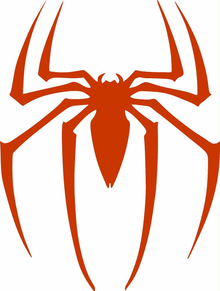 Spiderman Logo Vinyl Cut Out Decal Sticker In RED