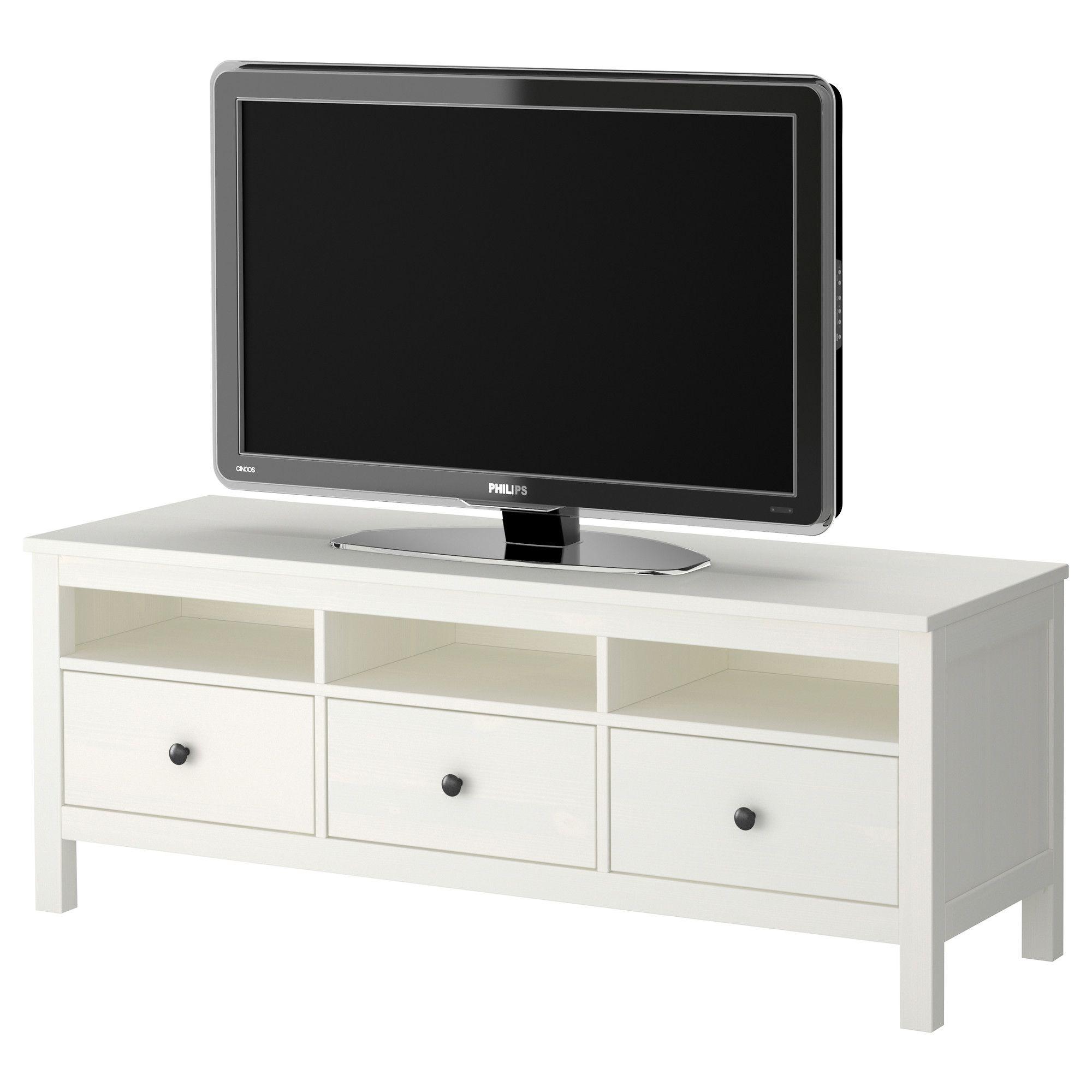 Hemnes mueble tv blanco ikea decoraci n muebles for Mueble tv ikea