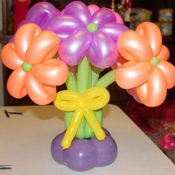 Ramo De Flores Con Globos Manualidad De Globoflexia Para Ninos - Como-hacer-flores-de-globos