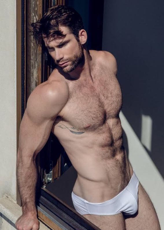 Male Model Good Looking Beautiful Man Guy Wolf Hot Sexy Handsome Eye Candy Beard Muscle Hairy Chest Abs Sixpack Shirtless Undies Underwear