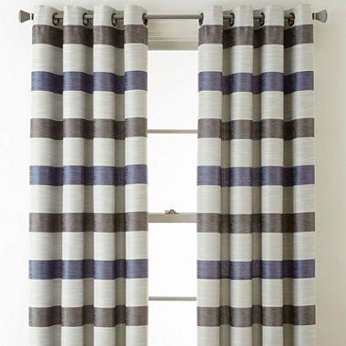 Studio Tempest Stripe Grommet Top Curtain Panel Jcpenney
