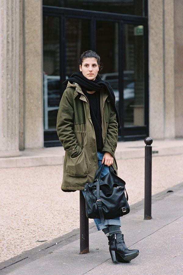 Aicha Reguie, Fashion Editor Süddeutsche Zeitung Magazin, before Miu Miu, Paris, March 2012