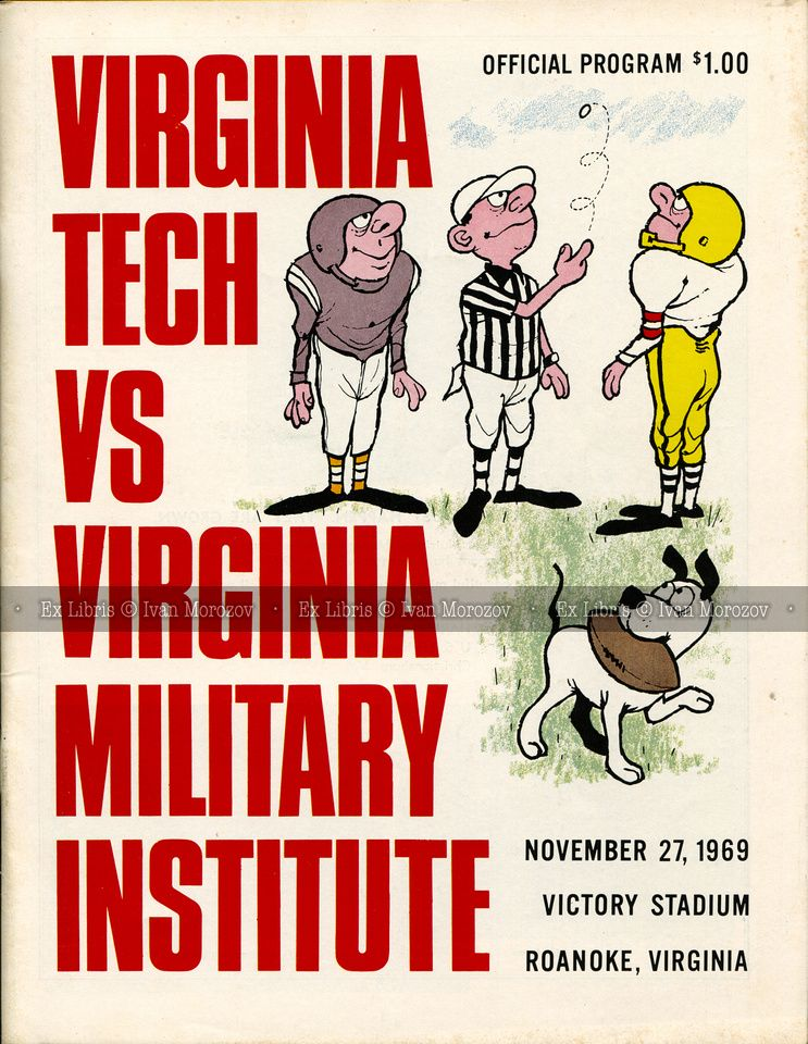 1969.11.27. Virginia Tech (Hokies) vs Virginia Military