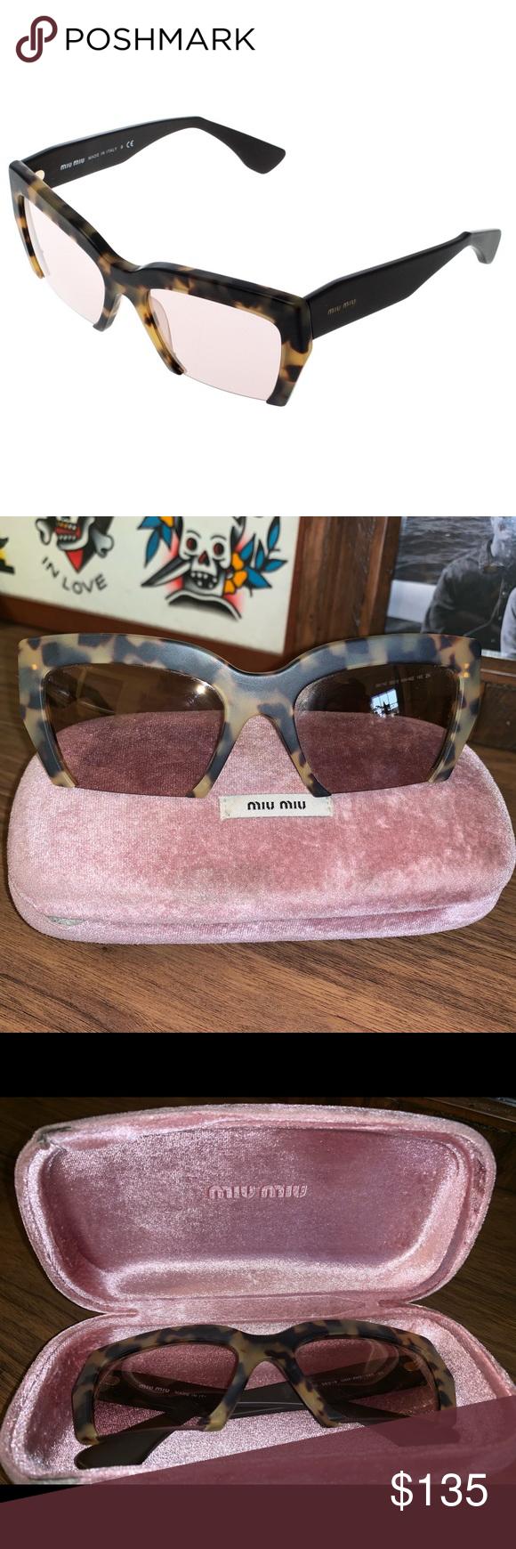 2d5eca87169b Miu Miu Tortiseshell Raisor half rim sunglasses Worn for a photo shoot. No  flaws whatsoever
