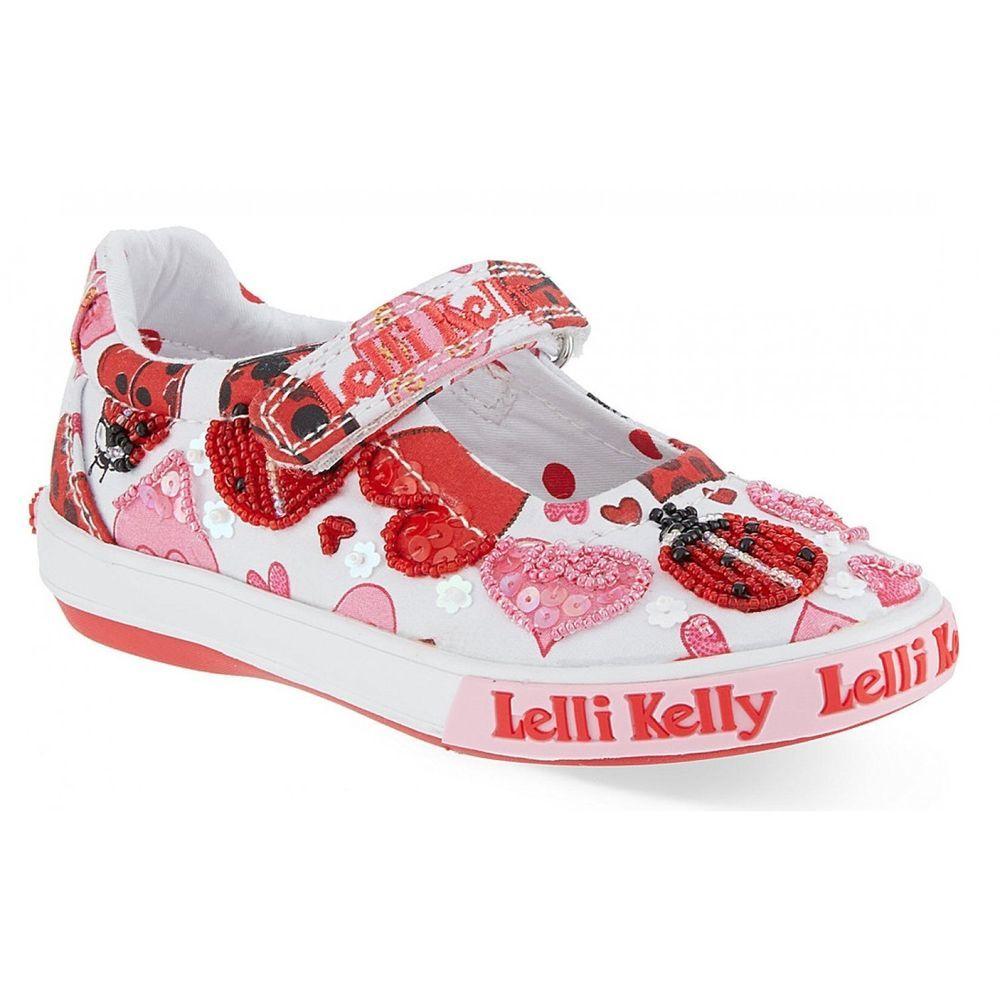 a500064d2625 Lelli Kelly Ladybird White Fantasy Size 25 26 27 28 29 30 31 32 33 34 35  Dolly
