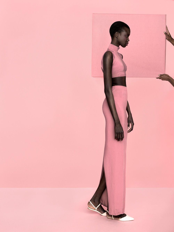 DYNAMIC AFRICA — Model of South Sudanese origin Nykhor photographed...