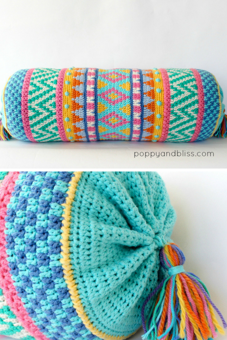 Bolster Pillow + FREE PILLOW CASE