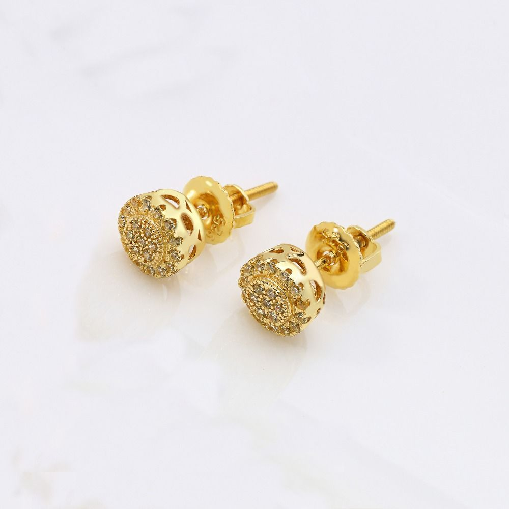 buy product roots white stud alloy tops trendy vanity button earrings