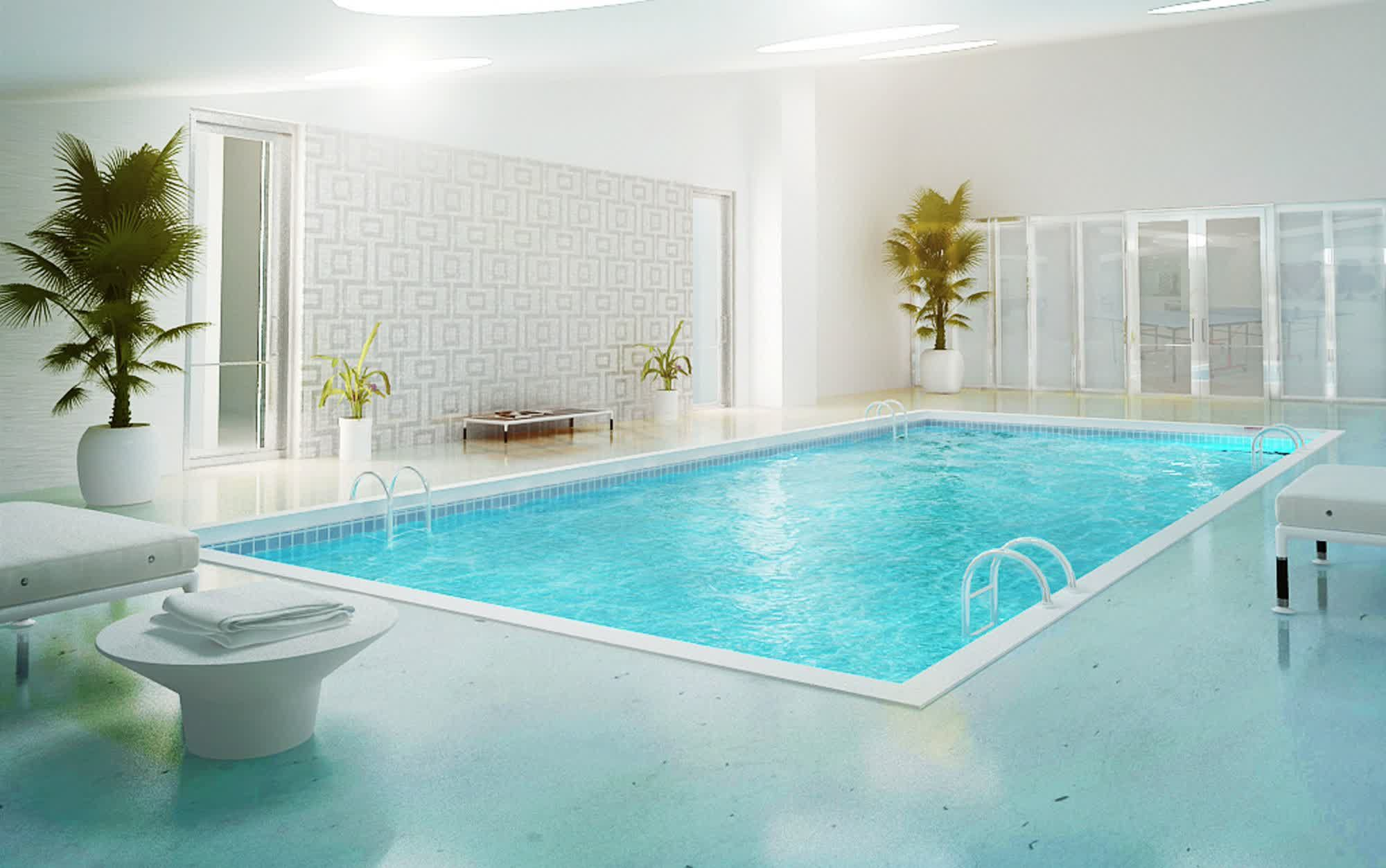 Erstellen Komfort Und Sicherheit Innen Pool Design
