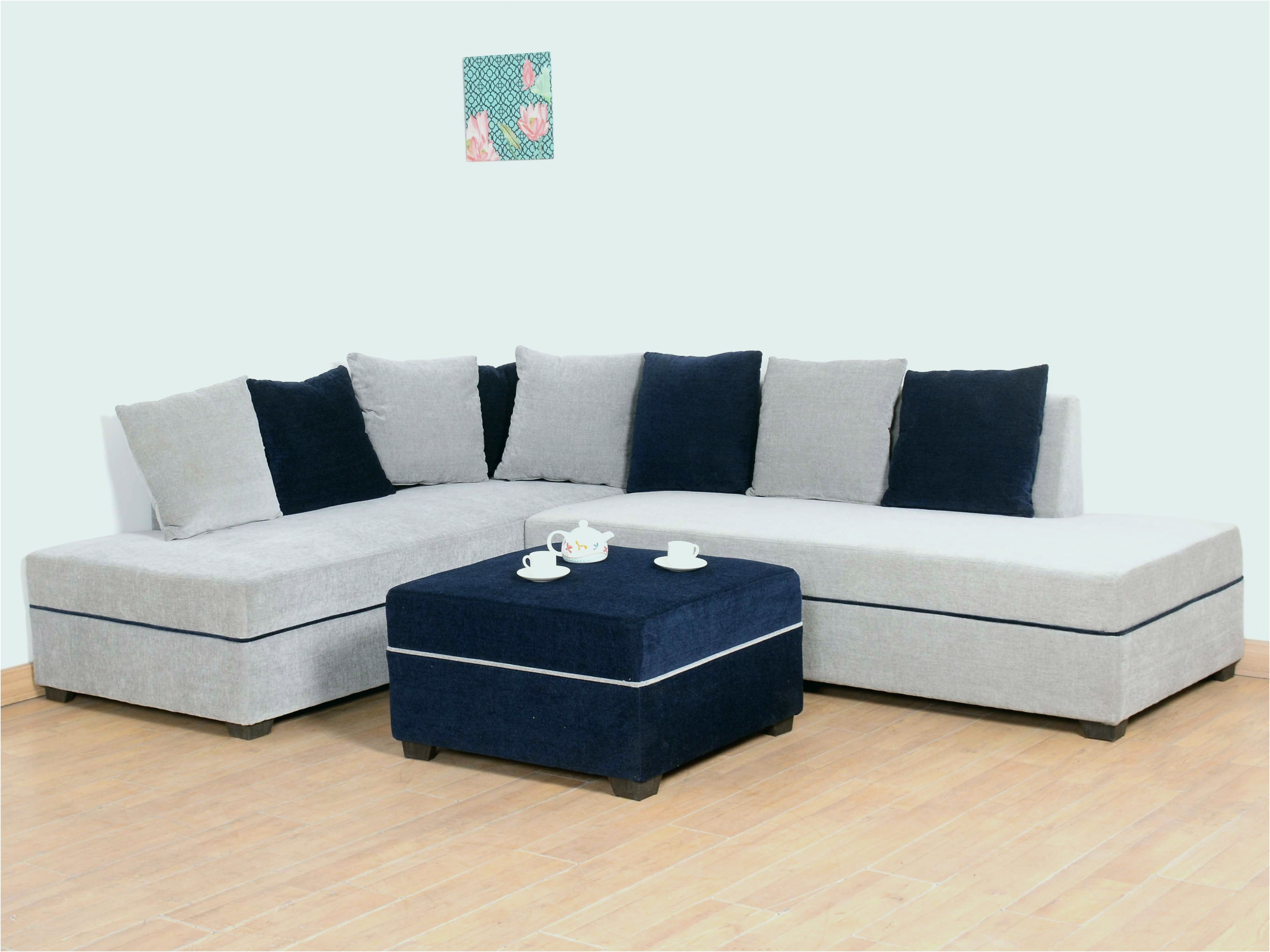 Sympathisch Otto Sofa Grau Couch Mobel Couch With Ottoman