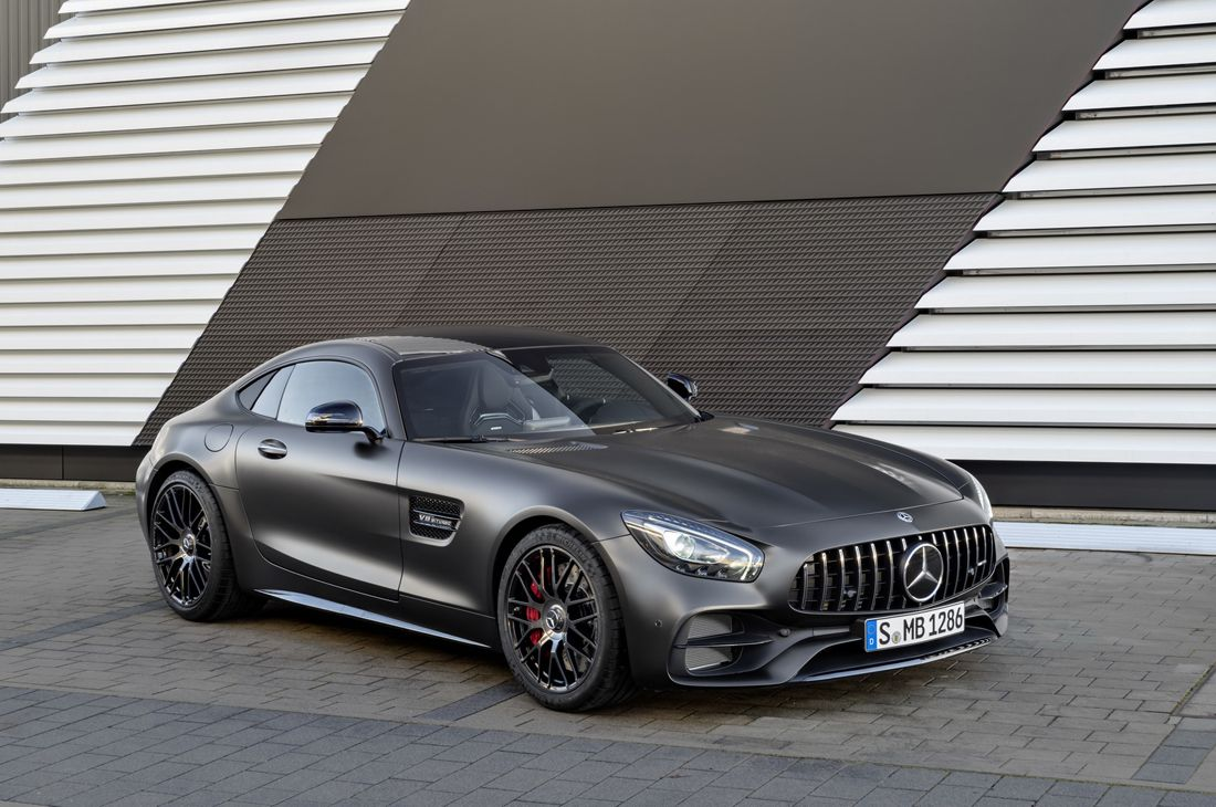 Stunning Black Mercedes Amg Gt C Coupe Edition 50 Mercedes