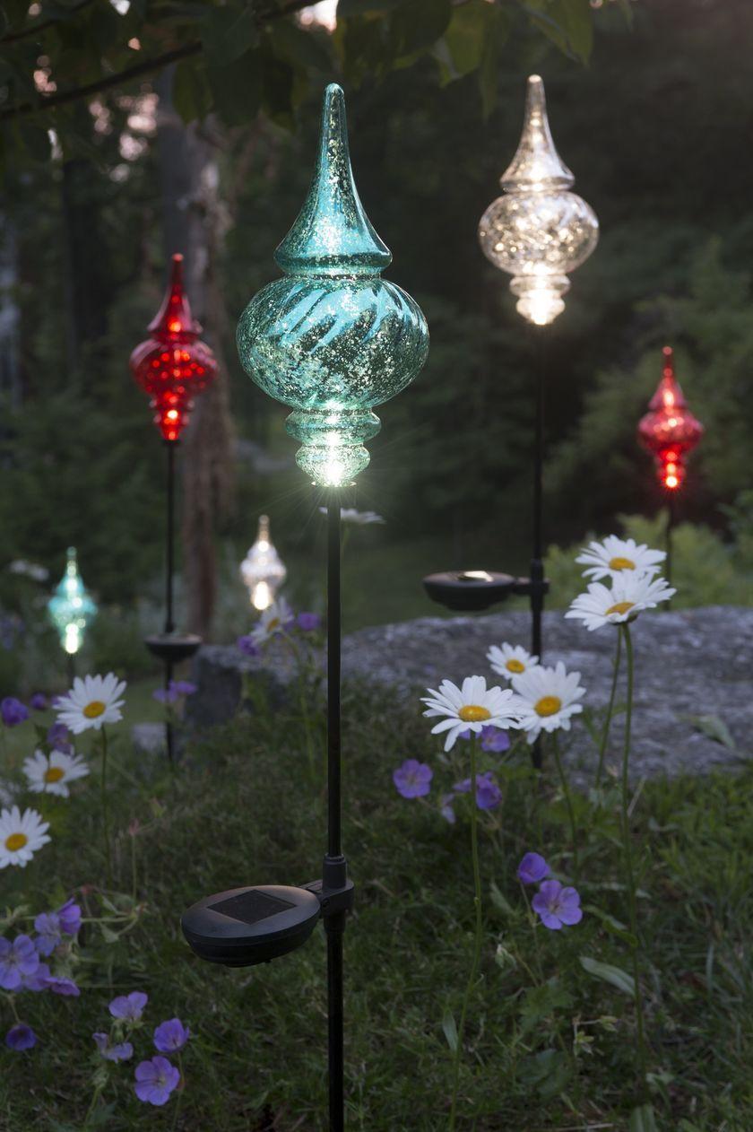 Solar Garden Stakes Finial   Outdoor Christmas Ornaments