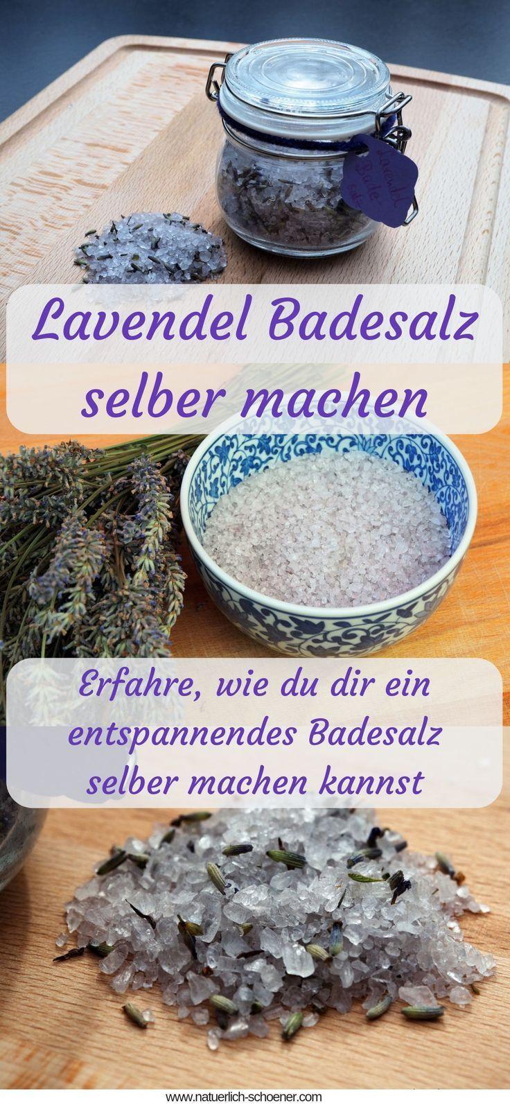 Lavendel Badesalz selber machen #badesalzselbermachen
