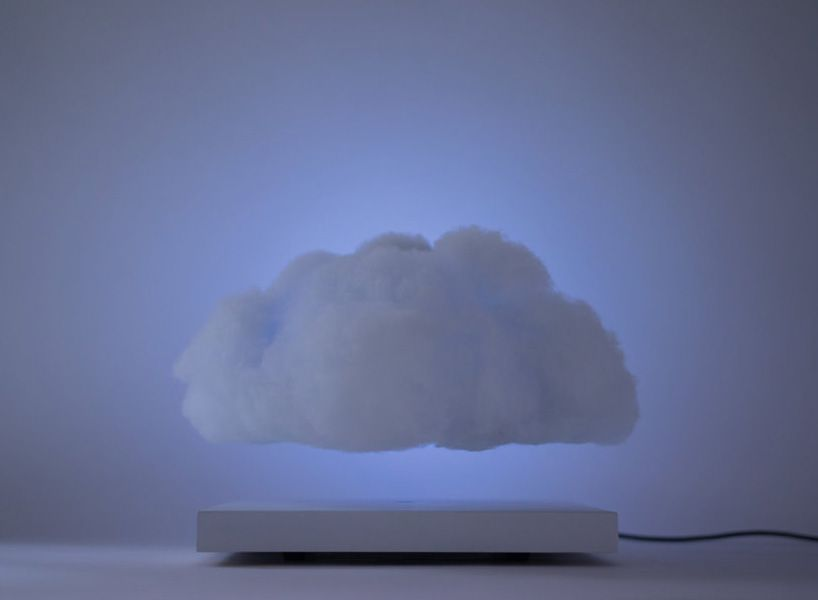 This Floating Cloud Lamp Magnetically Levitates And Pulses As Music Plays Cloud Lamp Lamp Levitation