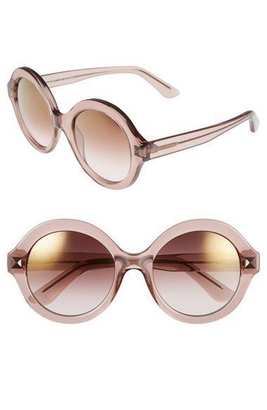 1a82a55a2d4c8 Valentino+'Floating+Rockstud'+54mm+Round+Sunglasses+available+at+#Nordstrom
