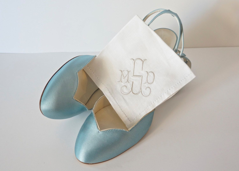 Irish Linen Handkerchief Monogrammed Handkerchiefs Personalized Bridal Wedding