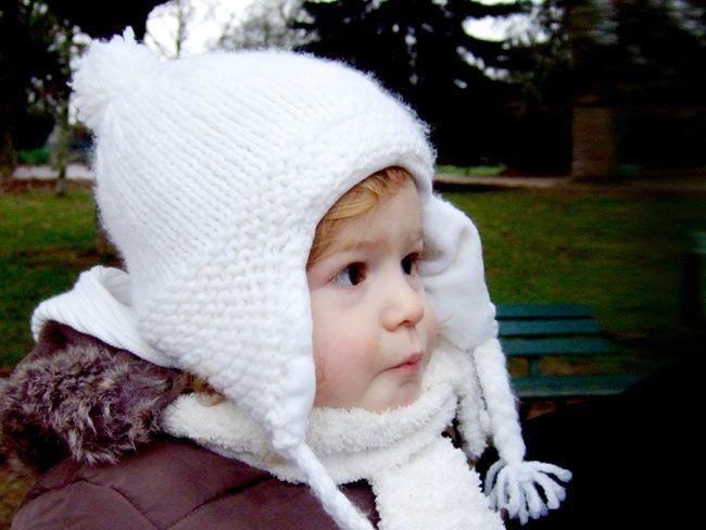61995464384 modèle tricot bonnet cache oreille