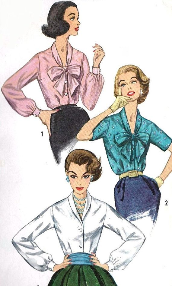50s LOVELY Day or Evening Blouse Pattern by SoVintageOnEtsy