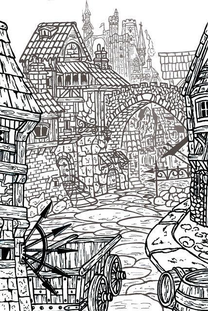 Creativity of Fià: Medieval city