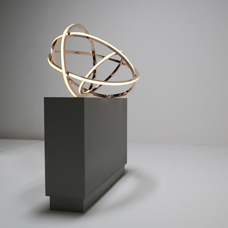Gesture is a custom lighting piece by acclaimed contemporary international artist and light sculptor Niamh Barry