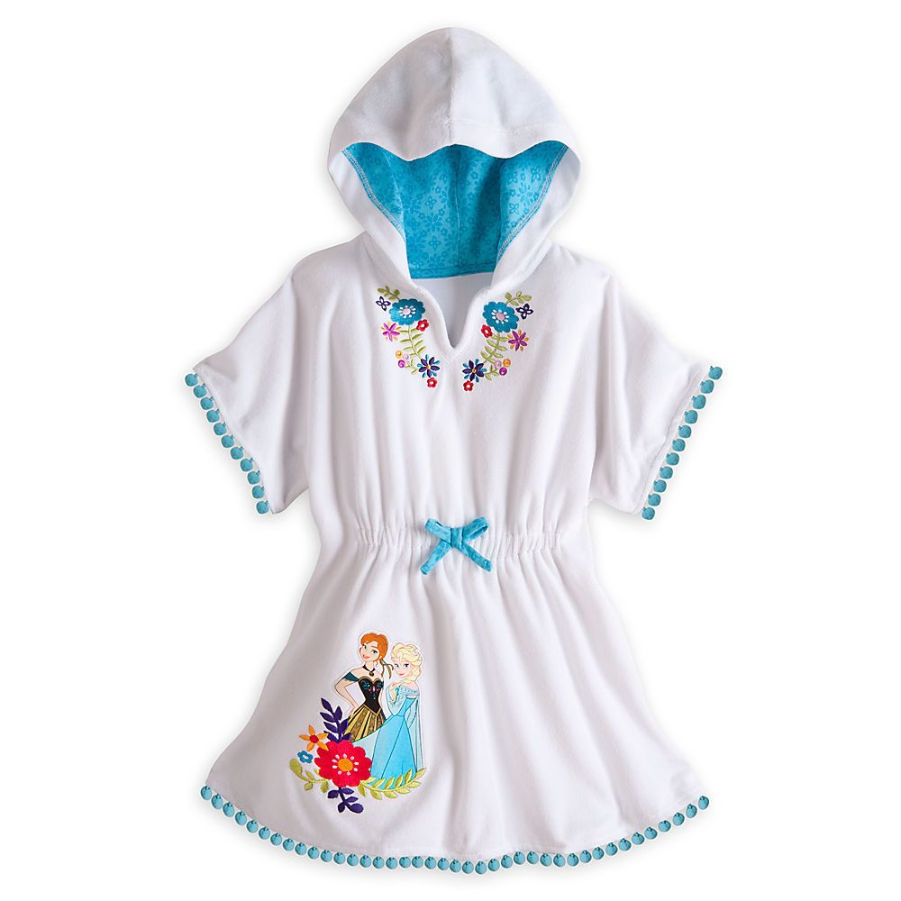 064289391b Frozen Cover Up Disney Store Swimsuit Coverup Beach Pool Towel Dress Hooded  ~2 #Disney #CoverUp