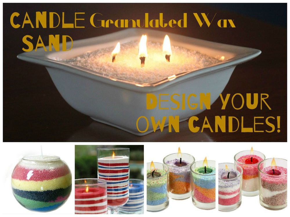 Design your own candles with scented, Granulated Wax. Each pack contains  130g of granulated