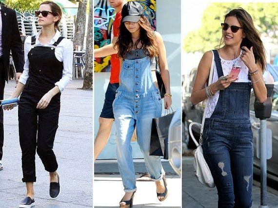 Macacão  famosas de jardineira jeans  a77913e5f8370