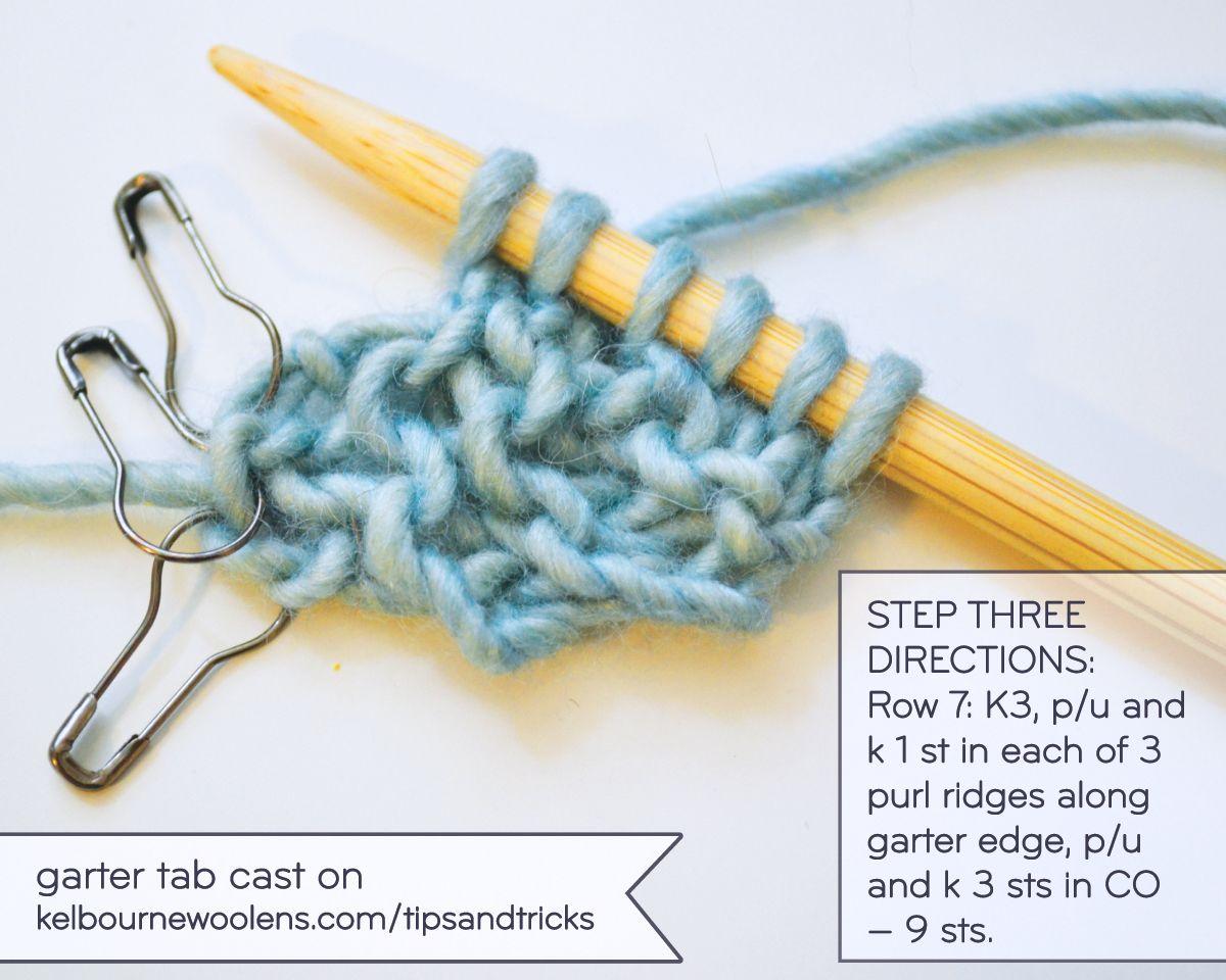 Garter Tab Cast On Kelbourne Woolens Linen Stitch Knitting It Cast