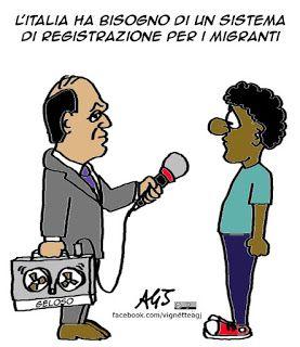 #Alfano sta studiando un sistema di registrazione per i migranti