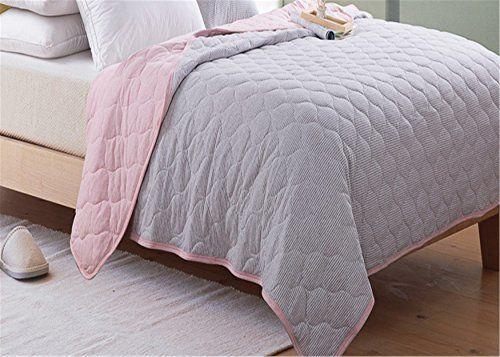Lotus Karen Stripes Coverlets Full Size Thin Summer Quilt Cotton