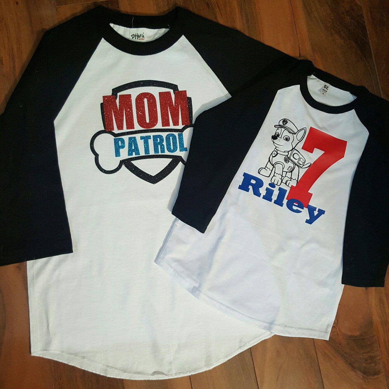 Paw Patrol Inspired Birthday Shirt MOM PATROL birthday shirt RAGLAN with Back Mom Patrol Shirt Paw Patrol Shirt Paw Patrol Birthday Shirt x56SvEycMZ