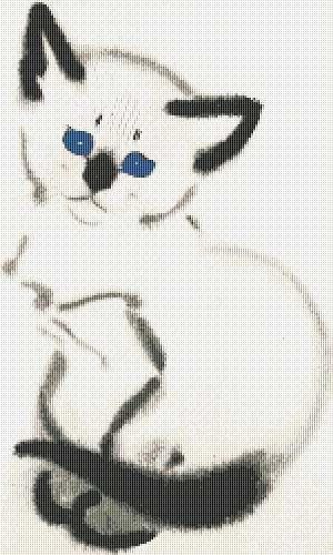 Siamese Kitten Counted Cross Stitch Pattern Pdf 075 By Annalaia 9 00 With Images Cross Stitch Cross Stitch Patterns Counted Cross Stitch