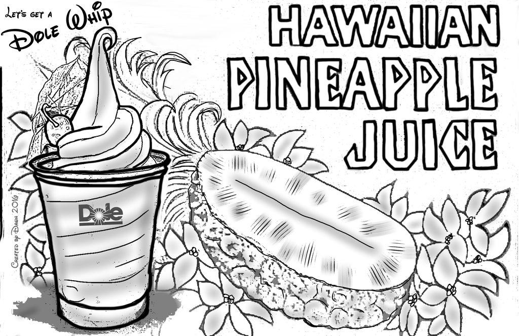 Dole Whip Tiki Juice Bar Disneyland Coloring Pages Disneyland Disney Coloring Pages