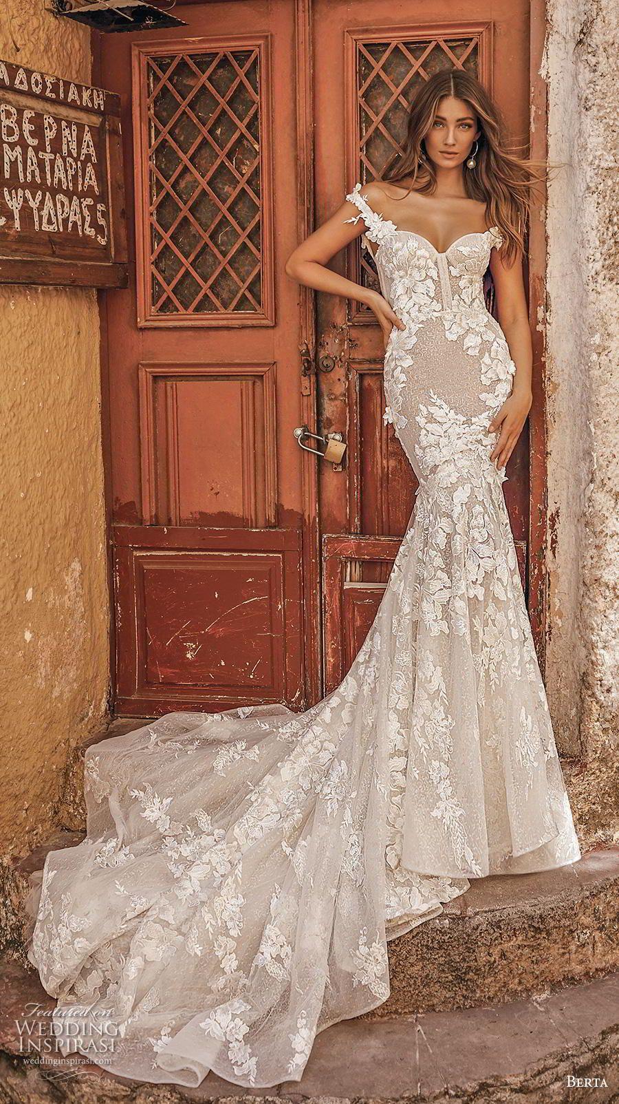 Berta Fall 2019 Wedding Dresses Athens Bridal Collection Wedding Inspirasi Long Train Wedding Dress Wedding Dresses Mermaid Wedding Dress [ 1604 x 900 Pixel ]