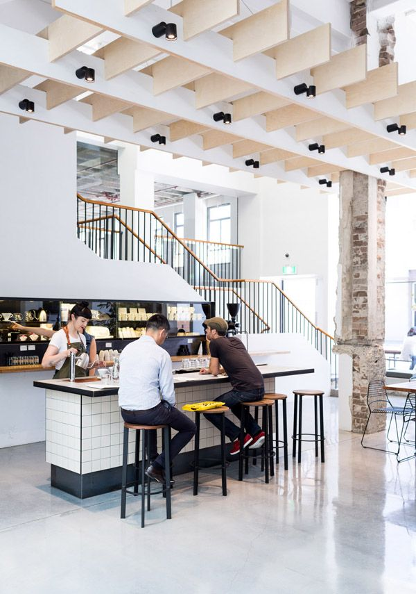 e980af27d9b0 Paramount Coffee in Sydney s newly restored Paramount House. Photo by Phu  Tang I Featuring Tait Stripe stools and Jak chairs