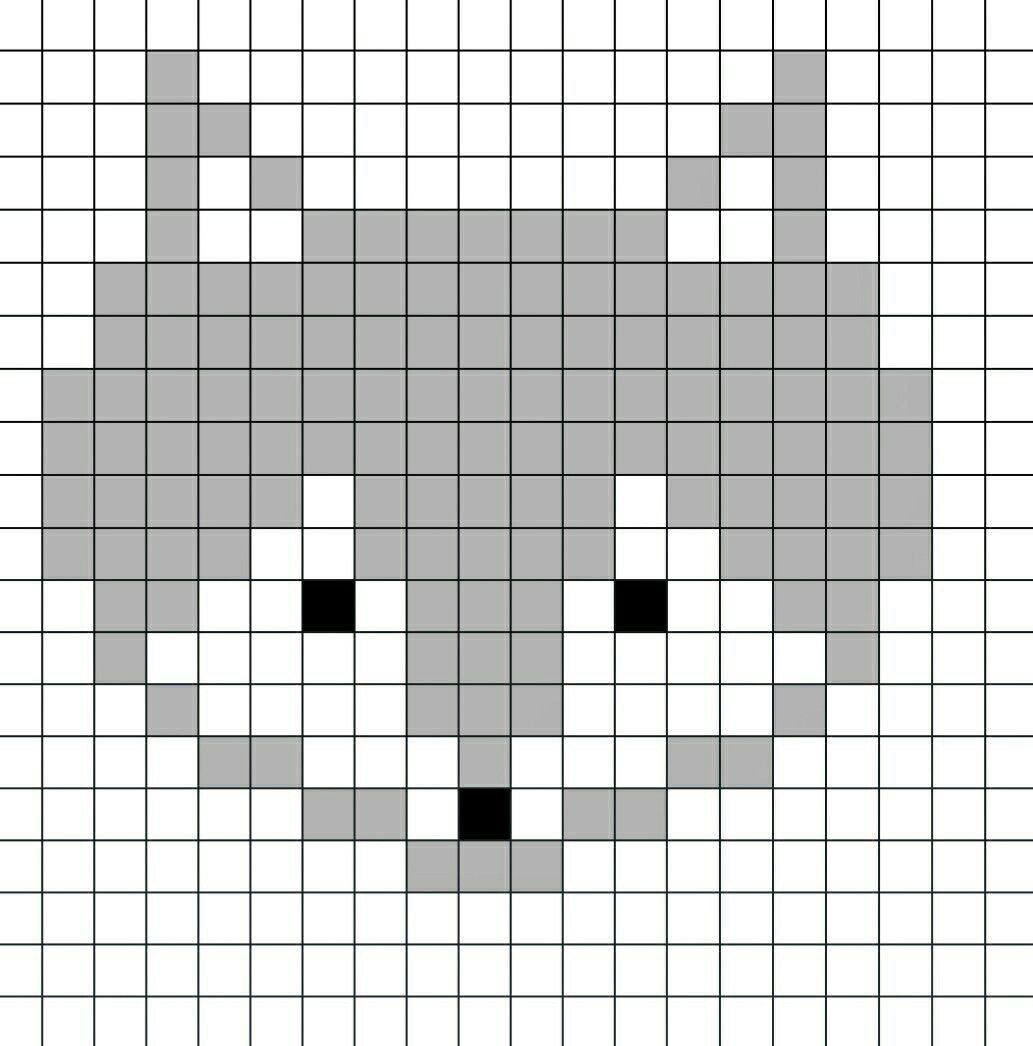 Voici le pixel art du renard illustré en vidéo sur ma ...