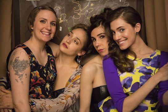 Lena Dunham, Jemima Kirke, Zosia Mamet and Allison Williams. Girls!