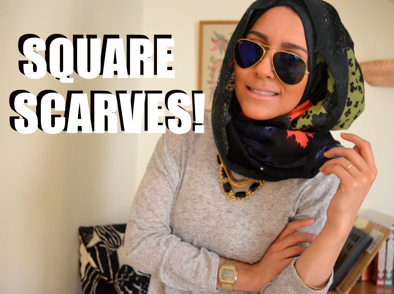 HOW TO WEAR A SQUARE SCARF Head Scarf Tying Pinterest