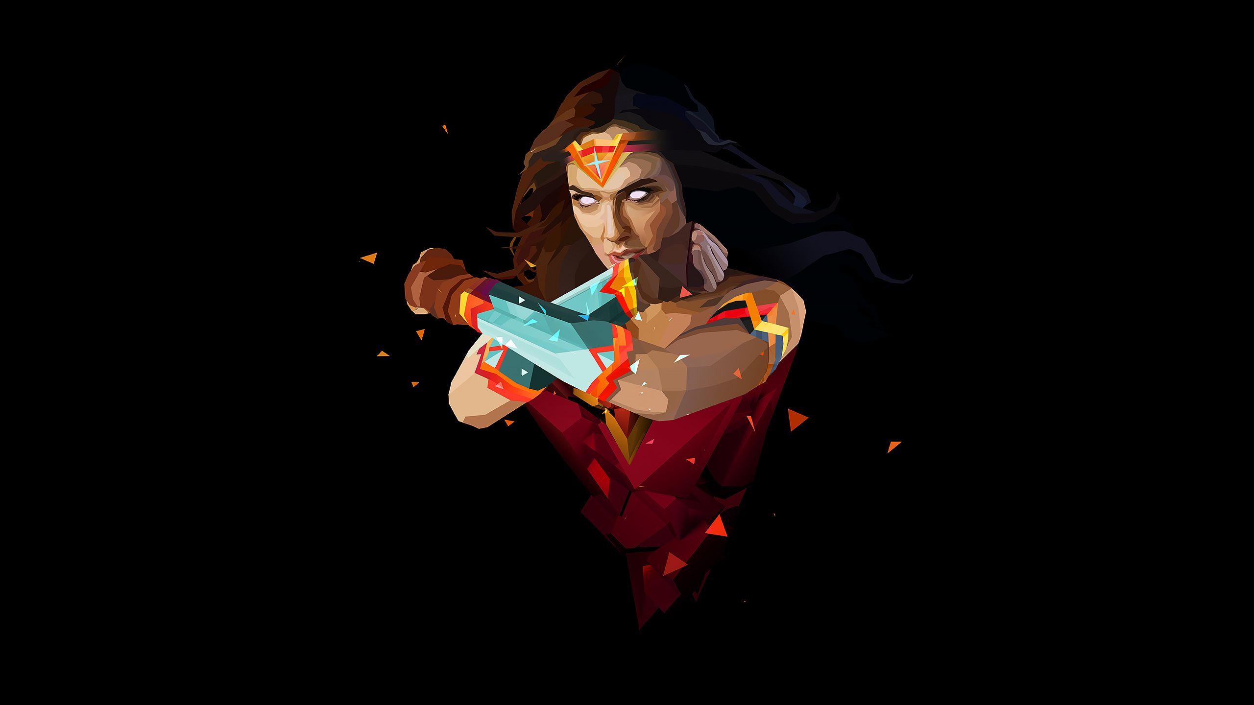 Minimal Woman Wonder Justin Maller Wallpapers Wonder Woman Artwork Wonder Woman