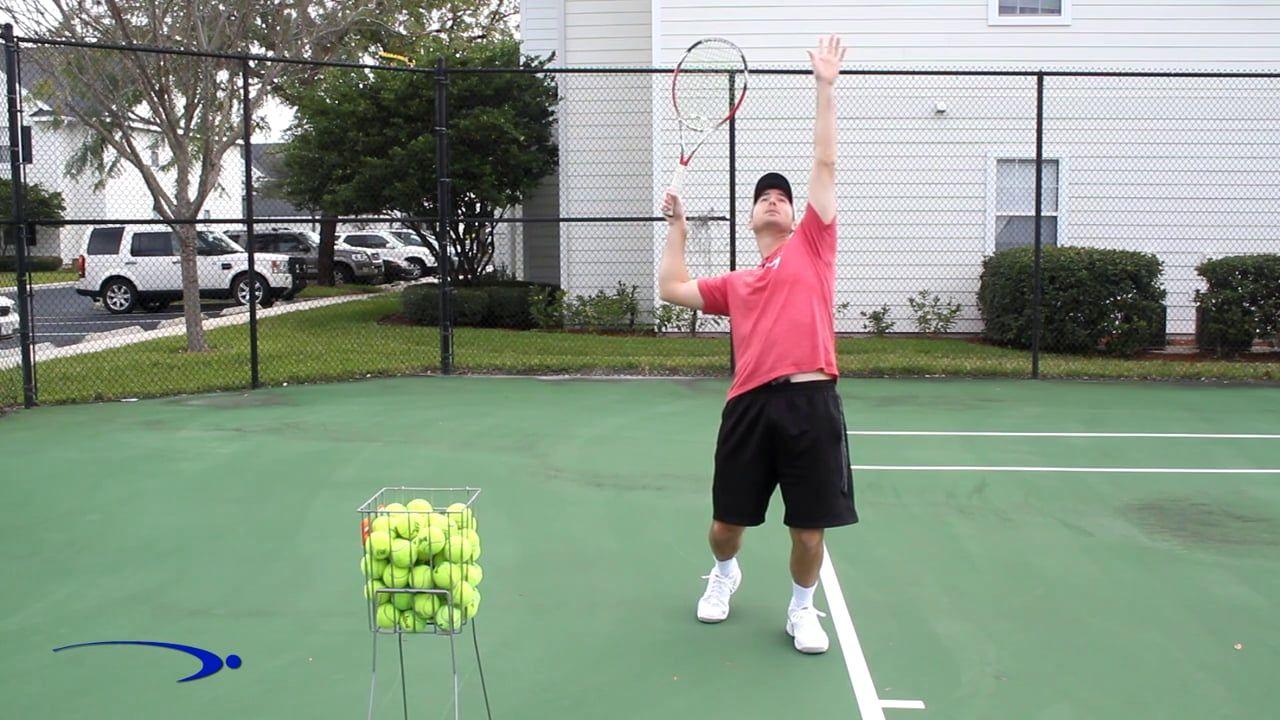 6 1 Tennis Serve Trophy Pose Split The Head Drill Tennis Tennis Serve Drill