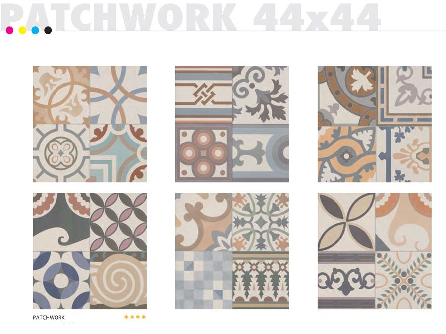 Carrelage 44x44 Patchwork - Realonda - Carrelage 1er choix Carreau ...