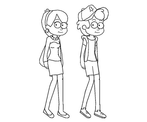 Gravity Falls Personajes Para Colorear: Figuras E Gravity Falls Para Colorear