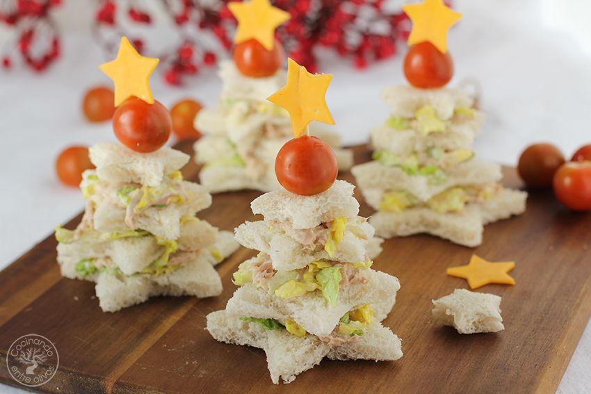 Sandwiches Navideños Atún Cocinar Con Niños Navidad Www Cocinandoentreolivos Com 15 Aperitivos Navideños Comida De Navidad Aperitivos De Navidad