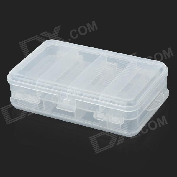 10 Compartment Dual Layer Plastic Medicine Box Transparent White Medicine Boxes Transparent 10 Things