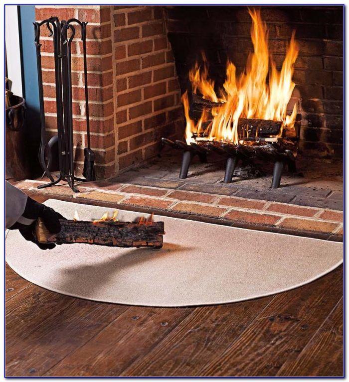 Fibergl Hearth Rugs Fireplace