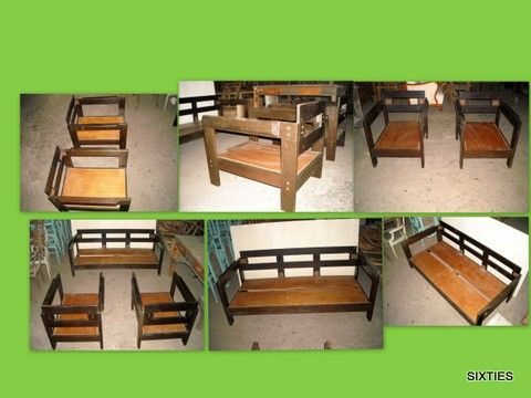 conjunto de sofás: por restaurar-1 conjunto em armazém