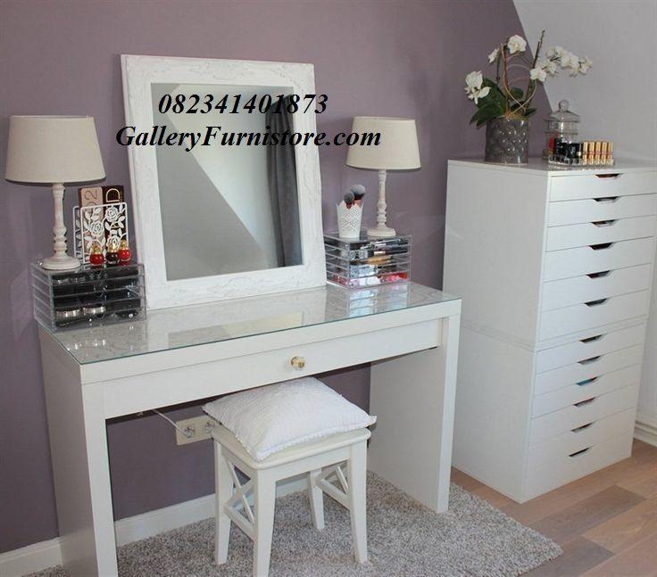jual meja rias minimalis putih cat duco ukir jepara model terbaru harga murah kualitas terbaik. Black Bedroom Furniture Sets. Home Design Ideas