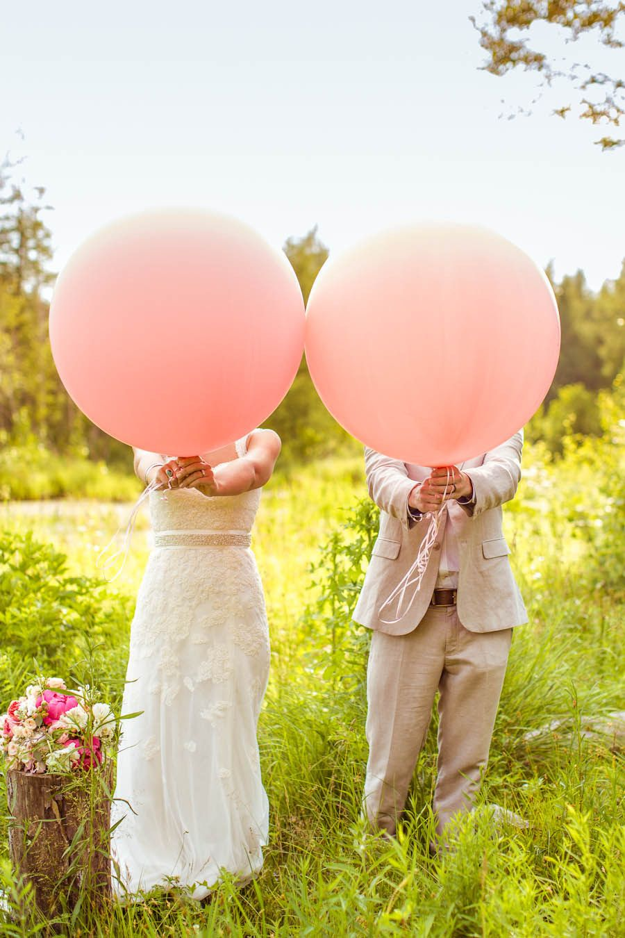Balloons!  Read more - http://www.stylemepretty.com/canada-weddings/2013/10/23/diy-quebec-wedding-at-cheshire-lodge-from-junophoto/