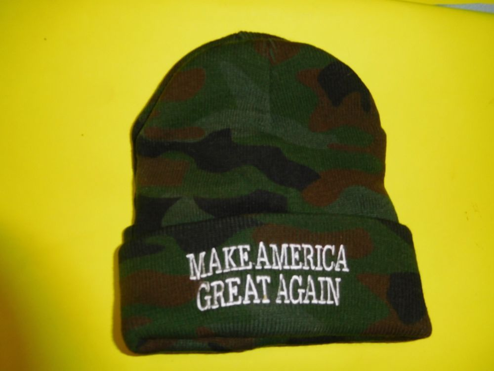 8749760104f Donald trump 20 20 knit hats black 6 for 40.00